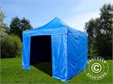 Pop up gazebo FleXtents Basic v.2, 4x4 m Blue, incl. 4 sidewalls - 2