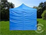 Pop up gazebo FleXtents Basic v.2, 4x4 m Blue, incl. 4 sidewalls - 3