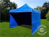 Pop up gazebo FleXtents Basic v.2, 4x4 m Blue, incl. 4 sidewalls - 4