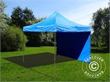 Pop up gazebo FleXtents Basic v.2, 4x4 m Blue, incl. 4 sidewalls - 5