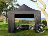 Tenda Dobrável FleXtents Basic v.3, 4x4m Preto, incl. 4 paredes laterais - 1