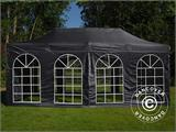 Gazebo pieghevole FleXtents Steel 3x6m Nero, incl. 4 fianchi - 1