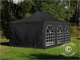 Carpa plegable FleXtents Steel 4x6m Negro, incl. 4 lados - 1
