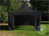 Carpa plegable FleXtents Steel 4x6m Negro, incl. 4 lados - 3
