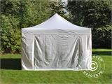 Vouwtent/Easy up tent FleXtents Steel 4x8m Wit, inkl. 4 Zijwanden - 9