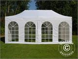 Carpa plegable FleXtents Steel 6x6m Blanco, inclusiva 8 Paredes laterales - 3
