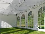 Carpa plegable FleXtents Steel 6x6m Blanco, inclusiva 8 Paredes laterales - 4
