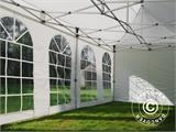 Carpa plegable FleXtents Steel 6x6m Blanco, inclusiva 8 Paredes laterales - 5