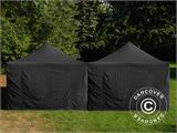 Pop up gazebo FleXtents Steel 8x8 m Black, incl. 8 sidewalls - 4