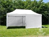 Pop up gazebo FleXtents® Basic v.3, Medical & Emergency tent, 3x6 m, White, incl. 6 sidewalls - 1