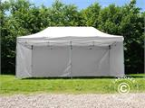Pop up gazebo FleXtents® Basic v.3, Medical & Emergency tent, 3x6 m, White, incl. 6 sidewalls - 5
