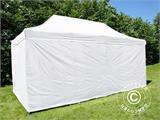 Pop up gazebo FleXtents® Steel, Medical & Emergency tent, 3x6 m, White, incl. 6 sidewalls - 3