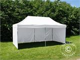 Pop up gazebo FleXtents® Steel, Medical & Emergency tent, 3x6 m, White, incl. 6 sidewalls - 4