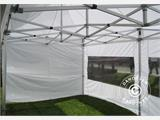 Pop up gazebo FleXtents PRO 3x6 m White, Flame retardant, incl. 6 sidewalls - 1