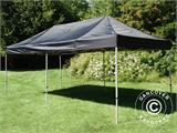 Pop up gazebo FleXtents PRO 3x6 m Black, Flame retardant, incl. 6 sidewalls - 6