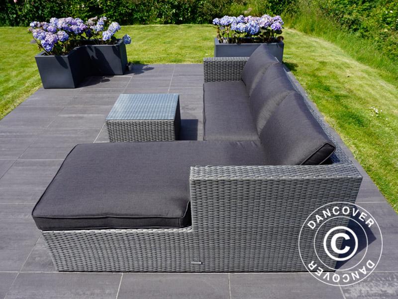 awesome salon de jardin poly rotin gris gallery amazing house design. Black Bedroom Furniture Sets. Home Design Ideas