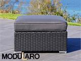 Poly rattan Lounge Set III, 4 modules, Modularo, Black - 29
