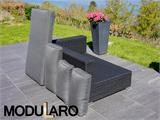 Cushion Covers for right/left arm sofa for Modularo, Black - 1