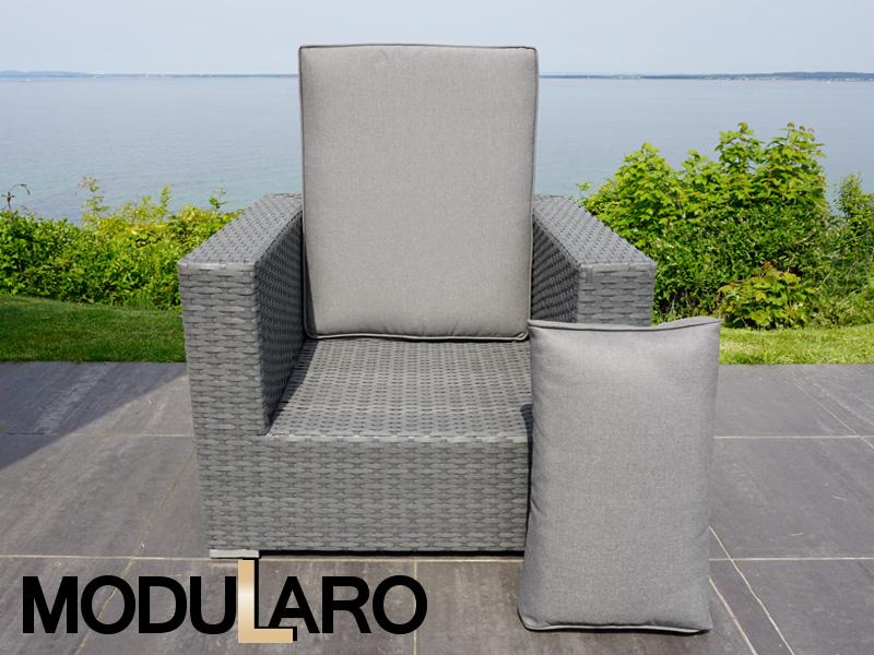 kissenbez ge f r lehnstuhl f r modularo grau. Black Bedroom Furniture Sets. Home Design Ideas