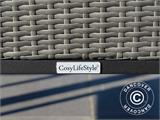 Poly rattan garden chair Miami, Grey, 2 pcs. - 8