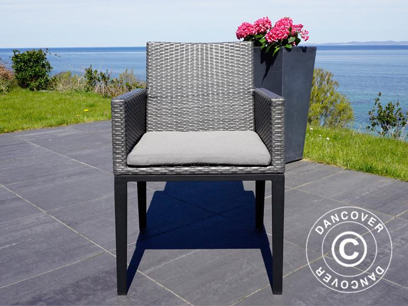 Fodere per cuscini delle sedie da giardino miami 8 pz grigie dancovershop it - Cuscini per sedie da giardino ...