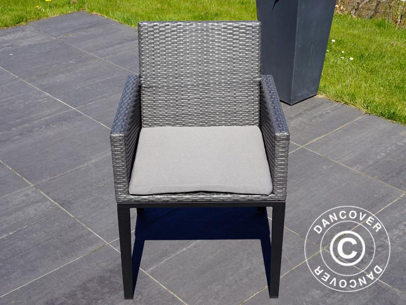 Fodere per cuscini delle sedie da giardino miami pz grigie