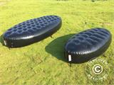 Inflatable bench, Chesterfield style, 1x1.95x0.45 m, Black - 1