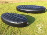Inflatable bench, Chesterfield style, 1x1.95x0.45 m, Black - 2