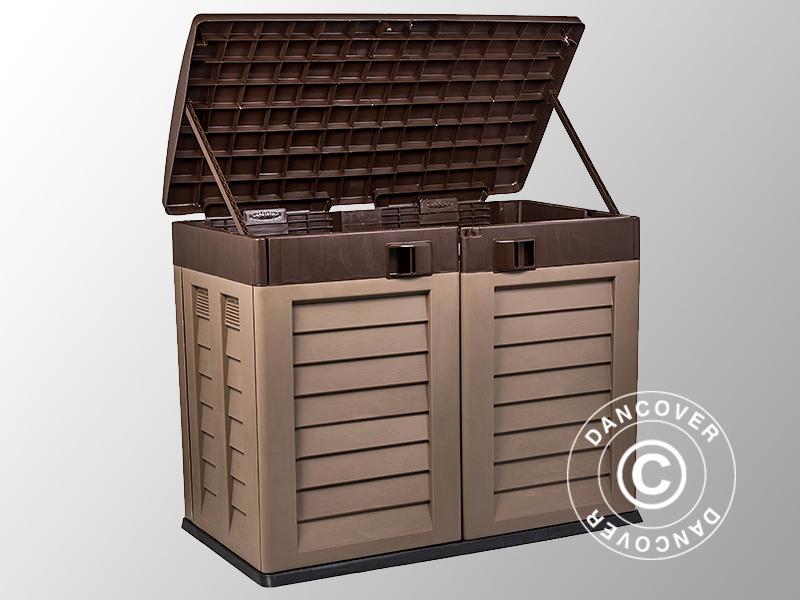 gartenbox 146x87x119cm mokka braun dancovershop de. Black Bedroom Furniture Sets. Home Design Ideas