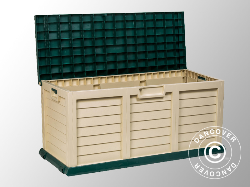 Box porta attrezzi da giardino 141x61x71 5cm verde panna - Box da giardino ...
