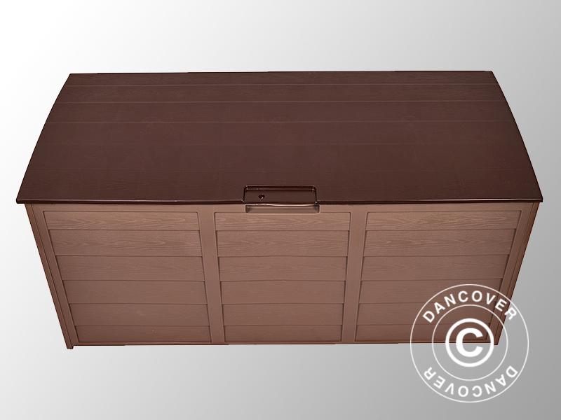 Box porta attrezzi da giardino 114x52x56cm moca marone - Box da giardino ...