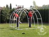 Polytunnel Greenhouse 2,2x4x1,9 m, Transparent - 11