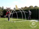 Polytunnel Greenhouse 2,2x4x1,9 m, Transparent - 5