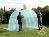 Polytunnel Greenhouse 2,2x4x1,9 m, Transparent - 8