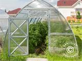 Greenhouse Polycarbonate, Arrow 15,6 m², 2,6x6 m, Silver - 5