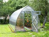 Greenhouse Polycarbonate, Arrow 20.8 m², 2.6x8 m, Silver - 1