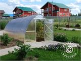 Greenhouse Polycarbonate, Arrow 20.8 m², 2.6x8 m, Silver - 4