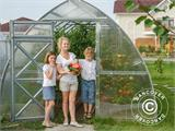 Greenhouse Polycarbonate, Arrow 20.8 m², 2.6x8 m, Silver - 6