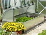 Mini greenhouse Cold Frame LOTOS 1.87 m², 0.89x2.10x0.80 m, Silver - 1