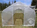 Polytunnel Greenhouse SEMI PRO 3x6.25x2.15 m, Transparent - 2