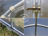Polytunnel Greenhouse SEMI PRO 3x6.25x2.15 m, Transparent - 7