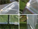 Polytunnel Greenhouse SEMI PRO Plus 2x3.75x2 m, Transparent - 7