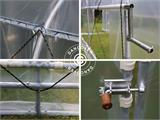Polytunnel Greenhouse SEMI PRO Plus 2x3.75x2 m, Transparent - 8