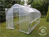 Polytunnel Greenhouse SEMI PRO Plus 2x7.5x2 m - 1