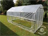 Polytunnel Greenhouse SEMI PRO Plus 3x6.25x2.15 m, Transparent - 1