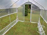 Polytunnel Drivhus SEMI PRO Plus 4x10x2,40m, Transparent - 2