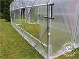 Polytunnel Drivhus SEMI PRO Plus 4x10x2,40m, Transparent - 4