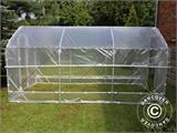 Polytunnel Drivhus SEMI PRO Plus 4x10x2,40m, Transparent - 5