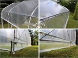 Polytunnel Drivhus SEMI PRO Plus 4x10x2,40m, Transparent - 8