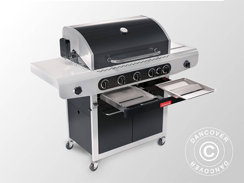 Gasbarbecue grill Barbecook Siesta 612, 56x142x118cm, Zwart
